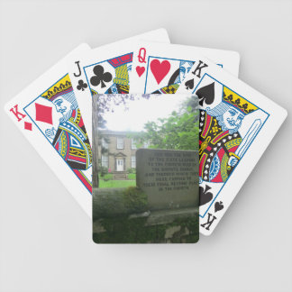 Bronte Parsonage in Haworth Bicycle Playing Cards