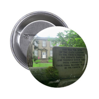 Bronte Parsonage in Haworth Pinback Buttons