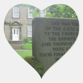 Bronte Parsonage in Haworth Heart Sticker