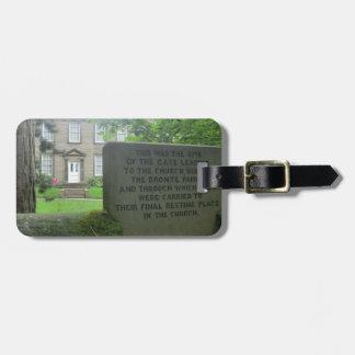 Bronte Parsonage in Haworth Bag Tag