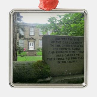 Bronte Parsonage in Haworth Metal Ornament