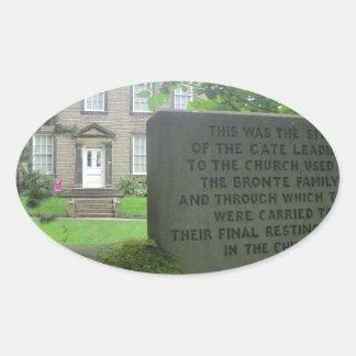 Bronte Parsonage in Haworth Oval Sticker