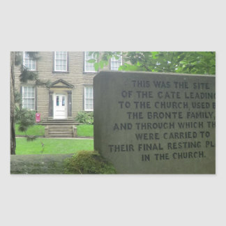 Bronte Parsonage in Haworth Rectangular Sticker