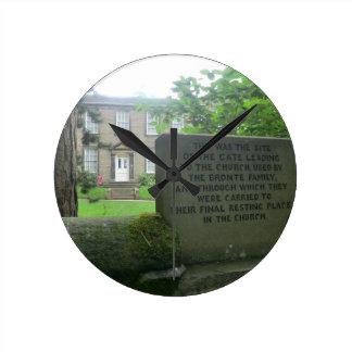 Bronte Parsonage in Haworth Round Clock