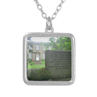 Bronte Parsonage in Haworth Square Pendant Necklace