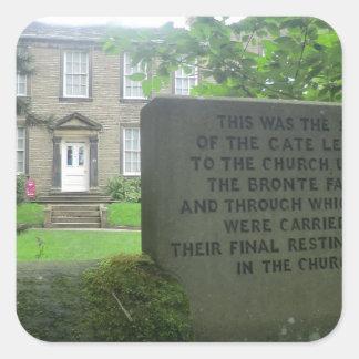 Bronte Parsonage in Haworth Square Sticker