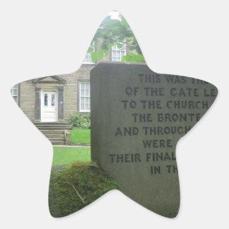 Bronte Parsonage in Haworth Star Sticker