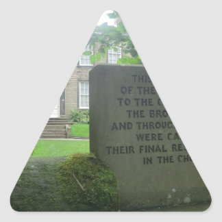 Bronte Parsonage in Haworth Triangle Sticker