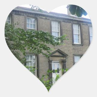 Bronte Parsonage in Haworth, Yorkshire Heart Sticker