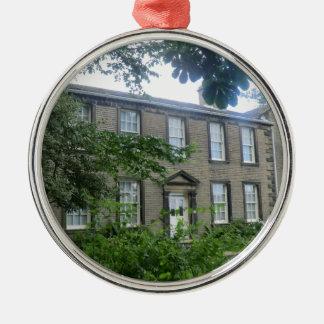 Bronte Parsonage in Haworth, Yorkshire Metal Ornament