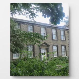 Bronte Parsonage in Haworth, Yorkshire Photo Plaque