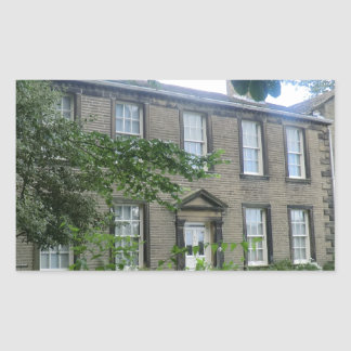 Bronte Parsonage in Haworth, Yorkshire Rectangular Sticker