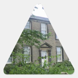Bronte Parsonage in Haworth, Yorkshire Triangle Sticker