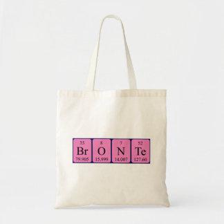 Bronte periodic table name tote bag