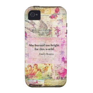 BRONTE QUOTE She burned too bright for this world iPhone 4 Cases
