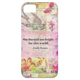 BRONTE QUOTE She burned too bright for this world iPhone 5 Case