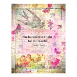 BRONTE QUOTE She burned too bright for this world Letterhead Template