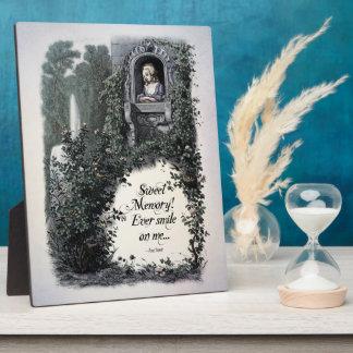 "Brontë ""Sweet Memory"" Victorian 8x10 Art Plaque"