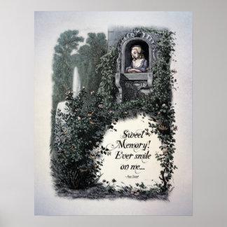 """Brontë """"Sweet Memory"""" Victorian Art Poster"""