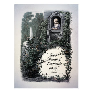 "Brontë ""Sweet Memory"" Victorian Postcard"