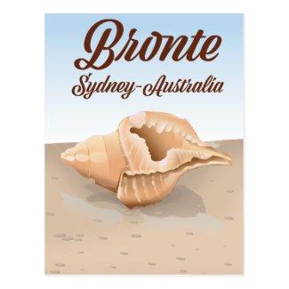 Bronte, Sydney, Australia vintage style travel Postcard