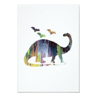 Brontosaurus and bats card