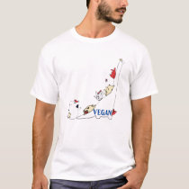 Brontosaurus and Vegan Friends T-Shirt