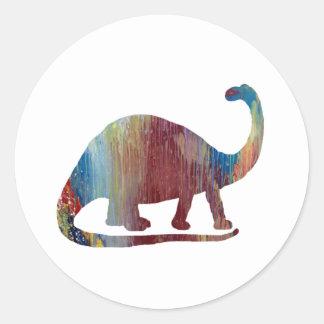 Brontosaurus Art Classic Round Sticker