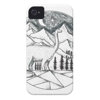 Brontosaurus Astronaut Mountains Tattoo iPhone 4 Cover