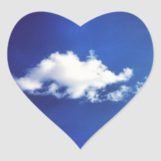 Brontosaurus Cloud Heart Stickers
