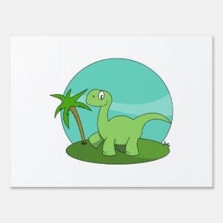 Brontosaurus del dibujo animado cartel