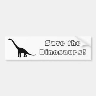 Brontosaurus del dinosaurio blanco y negro pegatina de parachoque