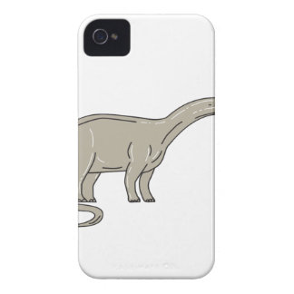 Brontosaurus Dinosaur Looking Down Mono Line iPhone 4 Case