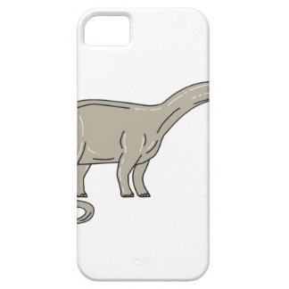 Brontosaurus Dinosaur Looking Down Mono Line iPhone SE/5/5s Case