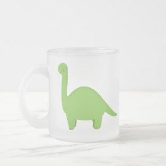 Brontosaurus Frosted Glass Coffee Mug