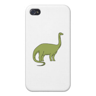 Brontosaurus Mono Line iPhone 4/4S Case