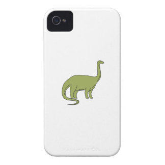 Brontosaurus Mono Line iPhone 4 Case