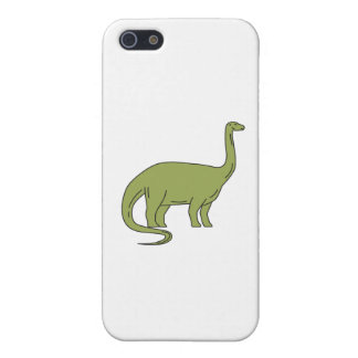 Brontosaurus Mono Line iPhone SE/5/5s Cover