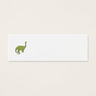 Brontosaurus Mono Line Mini Business Card
