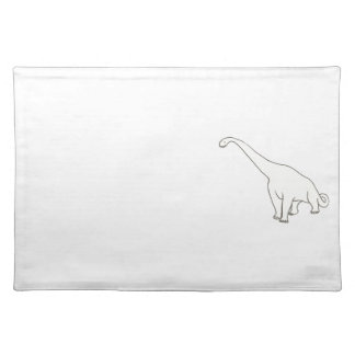Brontosaurus Outline Drawing Coloring Placemats