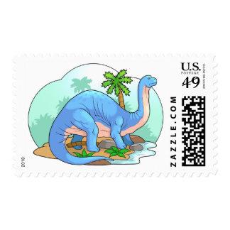 brontosaurus postage stamp
