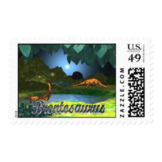 Brontosaurus Postage Stamps