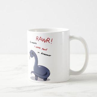 brontosaurus rawr means I love you:) Coffee Mug
