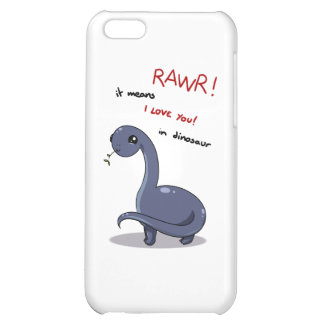 brontosaurus rawr means I love you iPhone 5C Cases