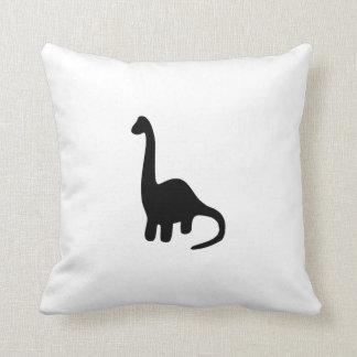 Brontosaurus Silhouette Throw Pillow