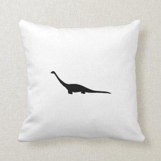 Brontosaurus Silhouette Throw Pillows