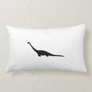 Brontosaurus Silhouette Pillows