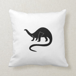 Brontosaurus Silhouette Pillow