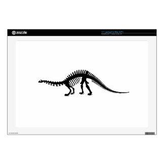 """brontosaurus skeleton skin for 17"""" laptop"""