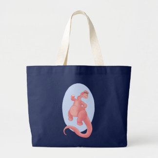 Brontosaurus Stomp Large Tote Bag